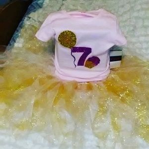 Other - Customade Tutu with Birthday shirt